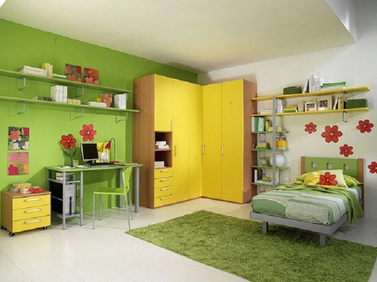 15-floral green yellow