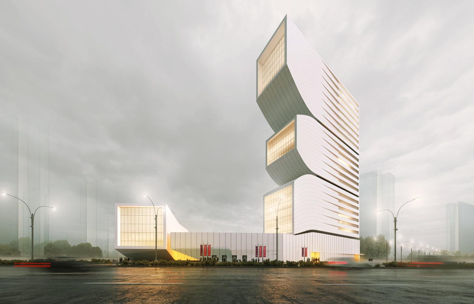 Nextoffice طراحی برج ترکیبی حجمی و مخلوط در ایران