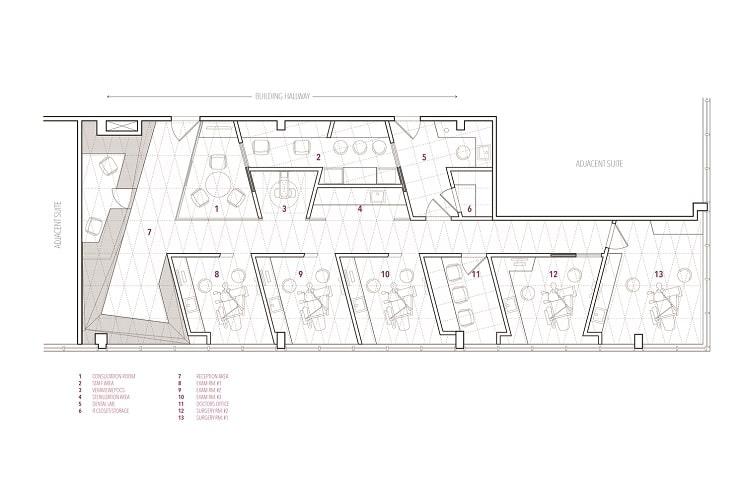 طراحی پلان مطب دندانپزشکی 2