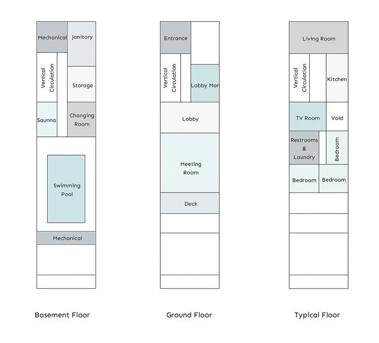 آپارتمان شماره.135 طراحی پلان توسط BNS استودیو