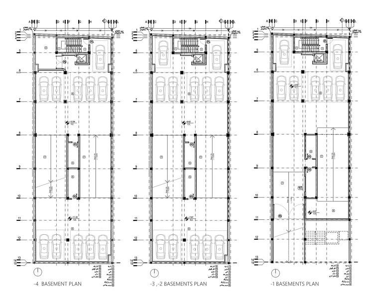 پلان ساختمان اداری تجاری فرمانیه