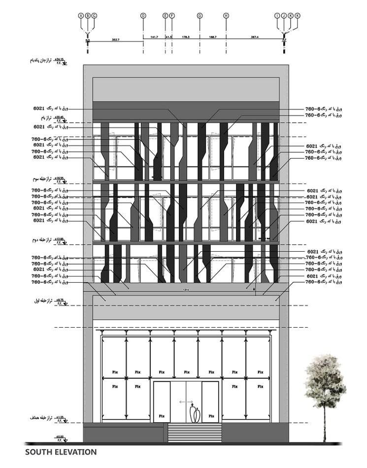 پلان ساختمان اداری تجاری فرمانیه1
