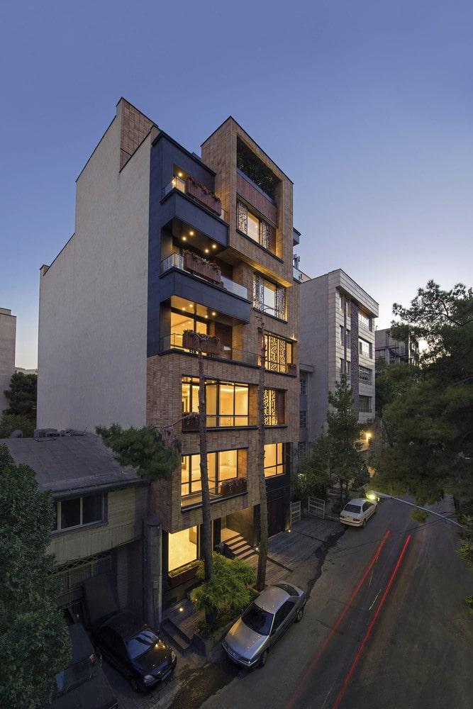 نمایی آپارتمان بوستان طراحی توسط علیدوست و همکاران