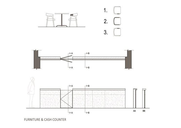 طراحی مدرن پلان فست فود5