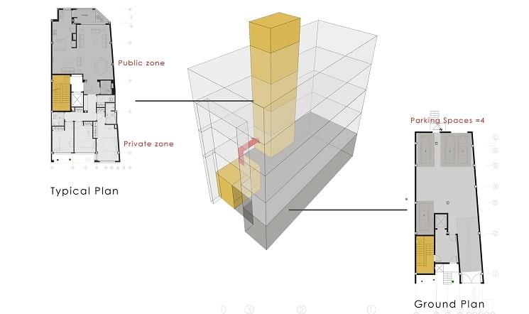 پلان ساختمان مسکونی حقیقی / استودیوی معماری بوژگان 5