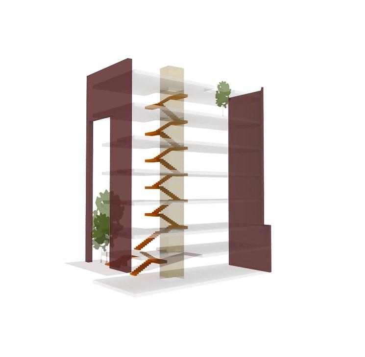 پلان ساختمان مسکونی حقیقی / استودیوی معماری بوژگان 1