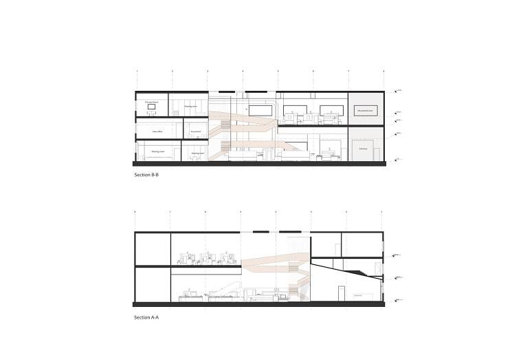 پلان نمایشگاه و دفتر صنعتی آریو چوب 2