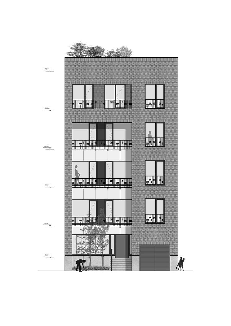پلان ساختمان مسکونی حقیقی / استودیوی معماری بوژگان 4