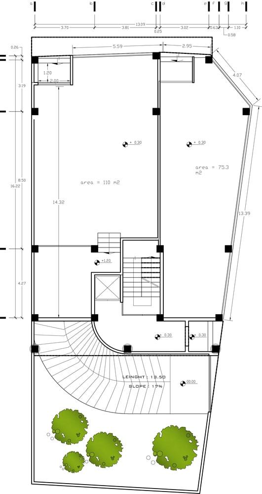 طراحی پلان دفتر بازرگانی طاها 3