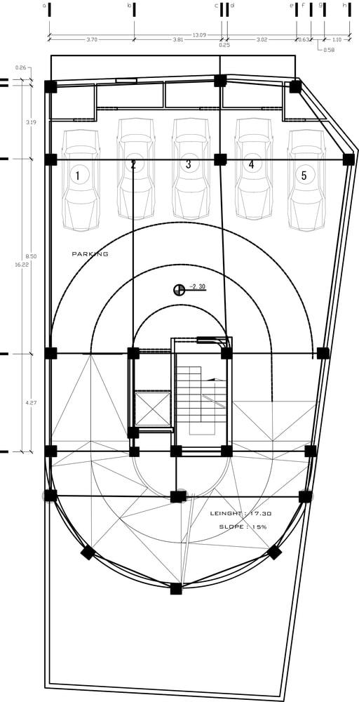 طراحی پلان دفتر بازرگانی طاها 2