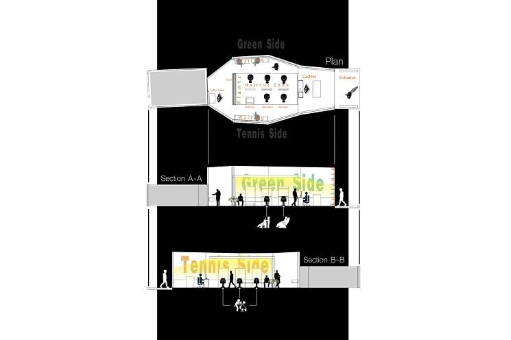 کلوپ مو VIP4 طراحی پلان توسط استودیو معماری
