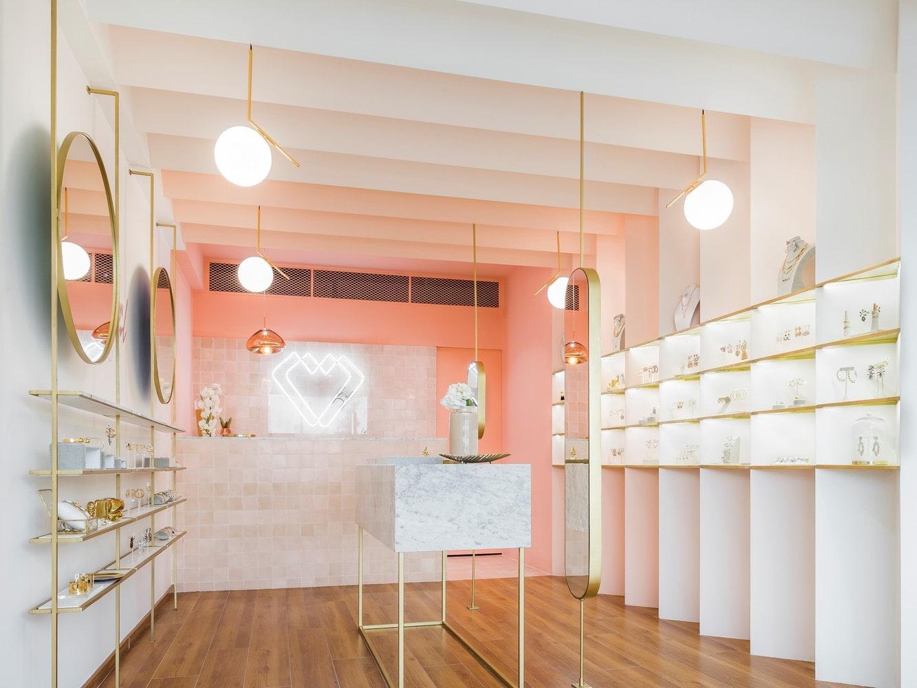 طراحی مغازه جواهر فروشی