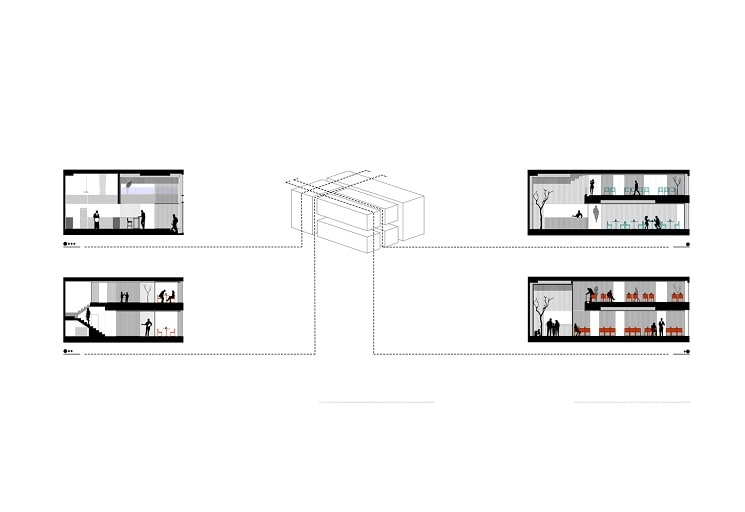 رستوران چوجی طراحی پلان توسط استودیوی آدمون