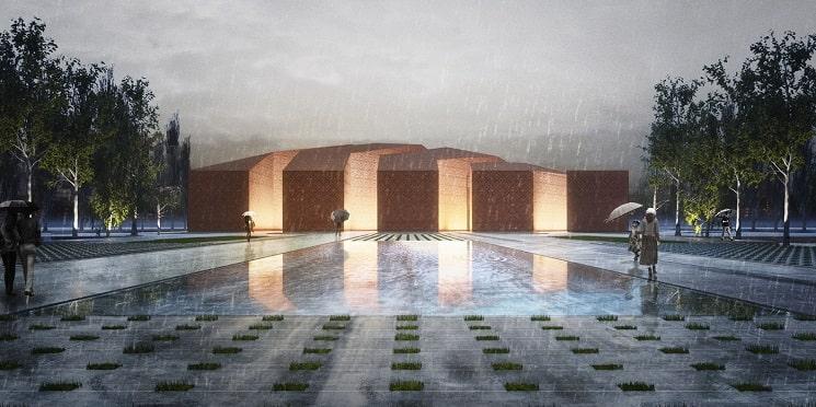 کسب جایزه اول در مسابقه طراحی مسجد گلشهر و پلازا در ایران