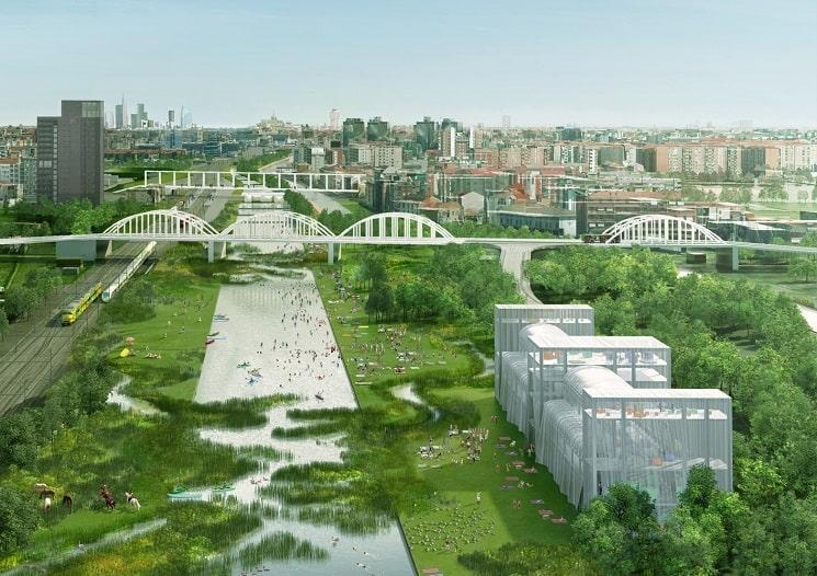 OMA برنده مسابقه ای برای طراحی دو راه آهن متروکه شده شمال و جنوب حاشیه میلان