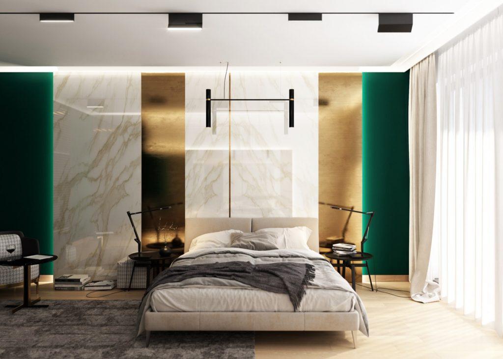 اتاق خواب سبز 17