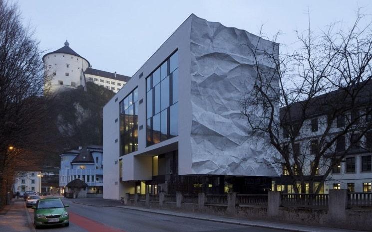 بازسازی دبیرستانی در اتریش با نمای جالب