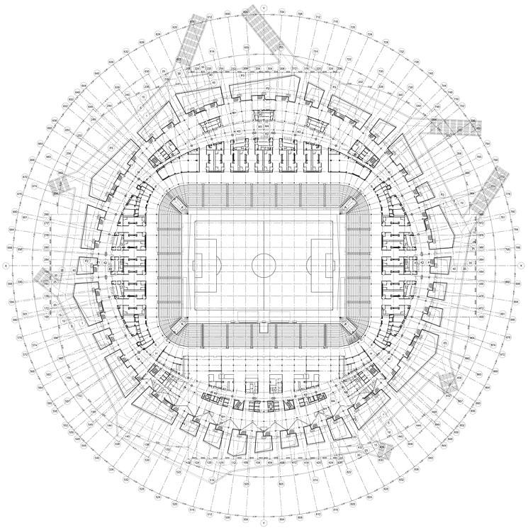 پلان استادیوم فوتبال ولگاگراد-آرنا روسیه1