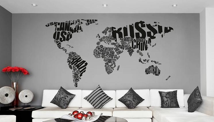 Kendinden yapışkanlı vinil duvar resimleri