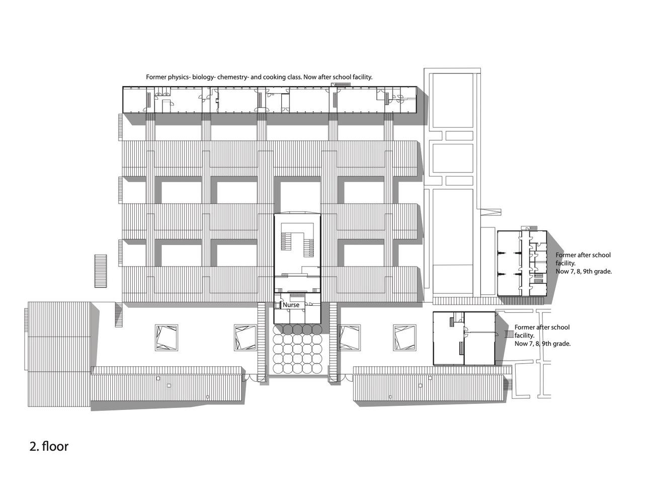 بازسازی پلان مدرسه مونکگارد