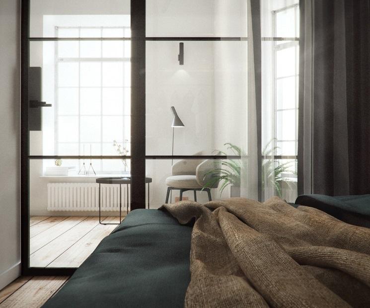 اتاق خواب شیشه ای 4