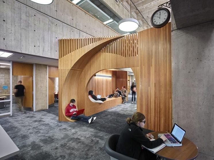 بازسازی کتابخانه دانشگاه سورن 4