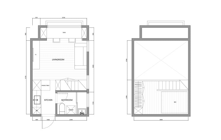پلان آپارتمان22 متری-1