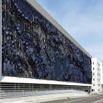 نمای هنری ساختمان پارکینگ1