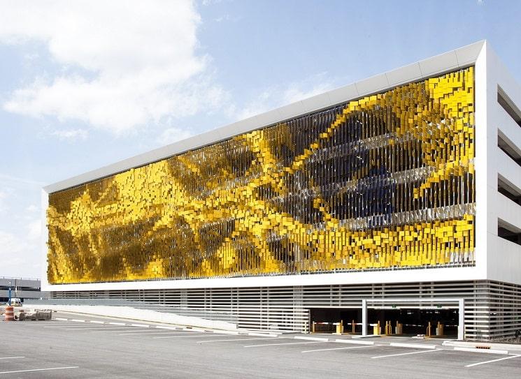نمای هنری ساختمان پارکینگ3