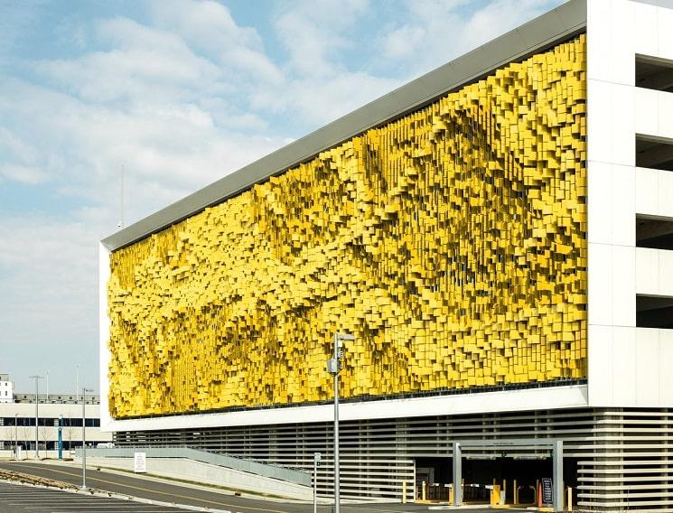 نمای هنری ساختمان پارکینگ4