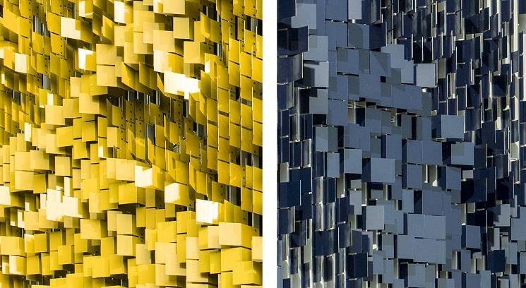 نمای هنری ساختمان پارکینگ8