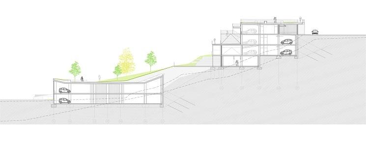 پلان طراحی پارکینگ/پیوند شهری