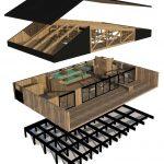 طراحی پلان کلبه جنگلی -7