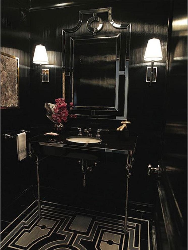 ظرافت سیاه و سفید در حمام با جزئیات