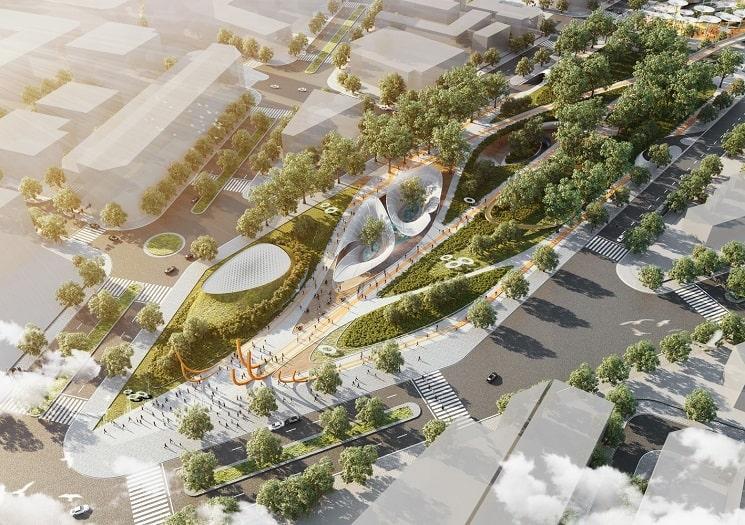 LAVA + Aspect برنده مسابقه بین المللی برای طراحی پارک مرکزی شهر هوشی مین در ویتنام