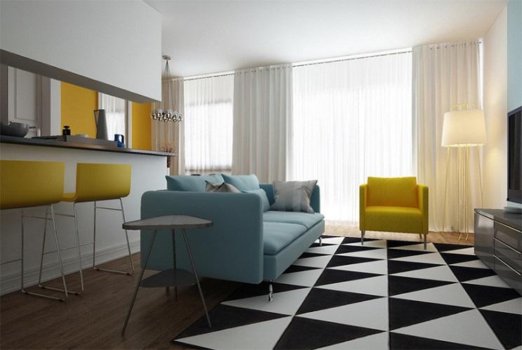 اتاق زندگی مدرن