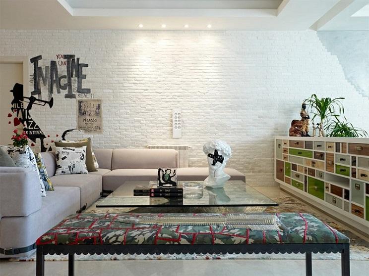 دیوارهای آجر سفید-10