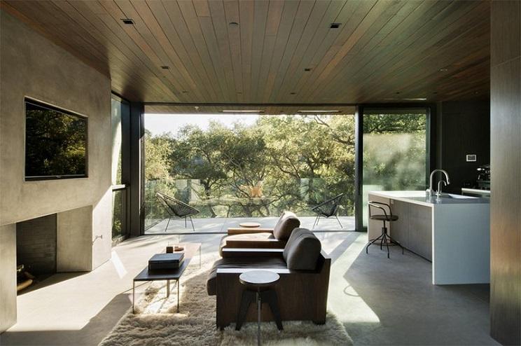 اتاق زندگی با سقف های چوبی-10