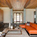 اتاق زندگی با سقف های چوبی-12