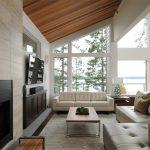 اتاق زندگی با سقف های چوبی-2