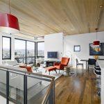 اتاق زندگی با سقف های چوبی-3