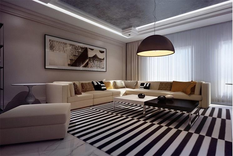 اتاق زندگی مدرن-4