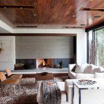 اتاق زندگی با سقف های چوبی-6