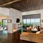 اتاق زندگی با سقف های چوبی-7