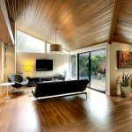 اتاق زندگی با سقف های چوبی-8