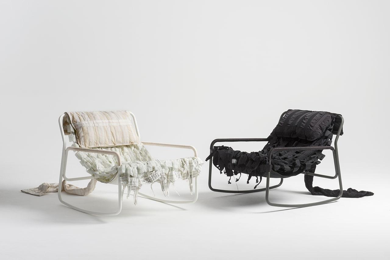 طراحی صندلی ها با استفاده از مواد بازیافتی چتر نجات-2