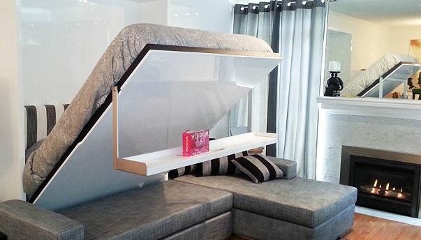 طراحی مبلمان برای صرفه جویی در فضا - ایده های تخت خواب مورفی