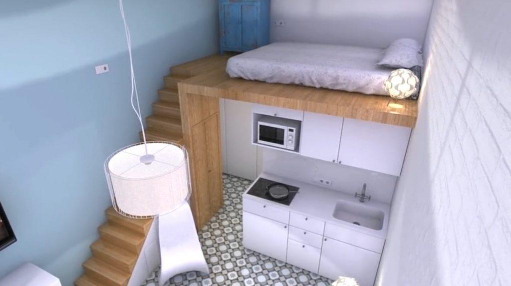 طراحی داخلی خانه به مساحت 21 متر مربع