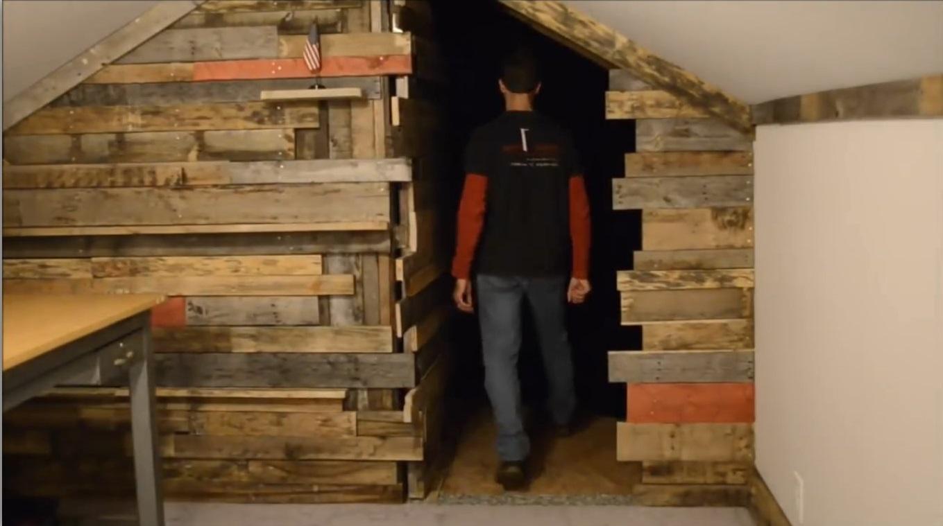 طراحی درب های مخفی و اتاق های پنهان