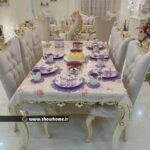 غذا خوری_دکوراسیون خانه زیبا و روشن، سارا 450 متر از کرمان